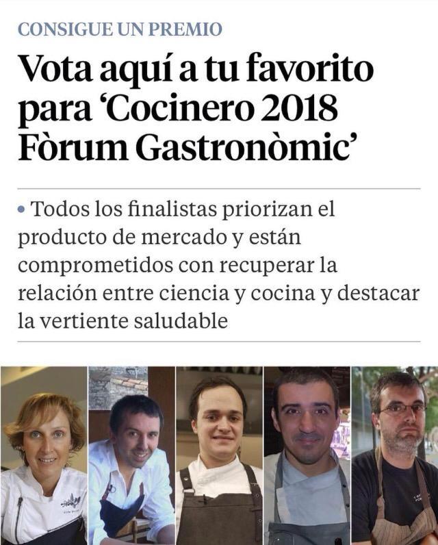 20/10/2018 Cuiner/a 2018 Fòrum Gastronòmic