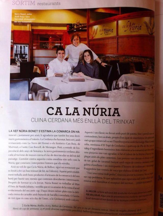 25/03/2014 Ca la Núria Revista Cuina