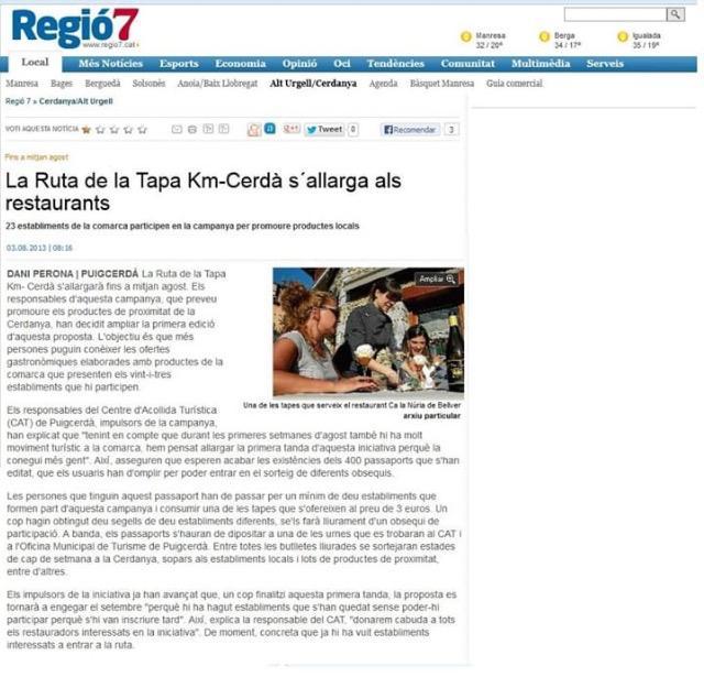 03/08/2013 Ruta de la Tapa Regió 7