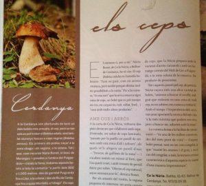 25/09/2014 Parlem del cep a la Revista Cuina