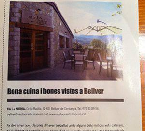 Bona cuina i bones vistes a Bellver